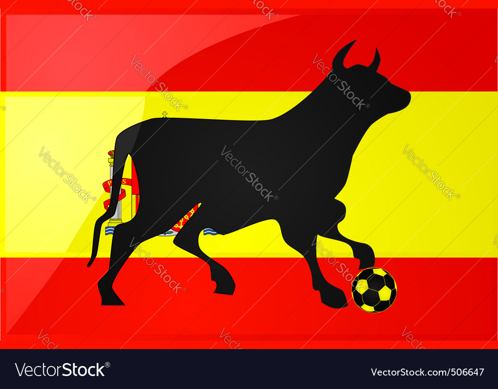 Bull spanish soccer vector | Price: 1 Credit (USD $1)
