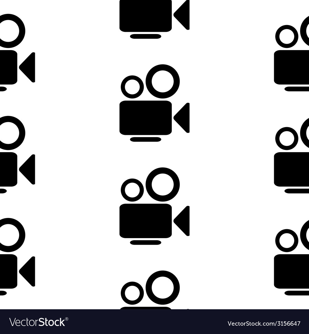 Camera symbol seamless pattern vector | Price: 1 Credit (USD $1)