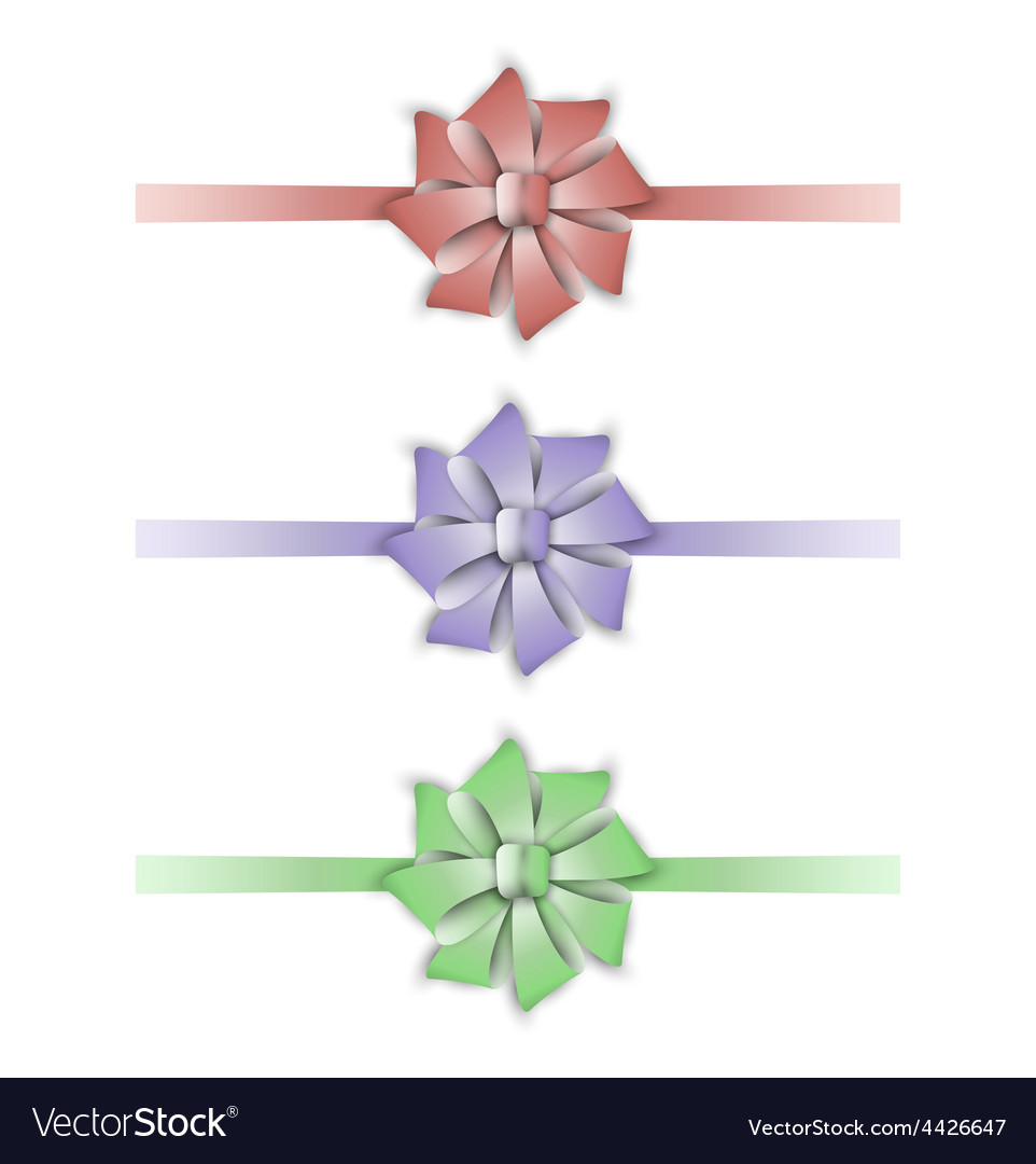 Collection of the three ribbons vector | Price: 1 Credit (USD $1)