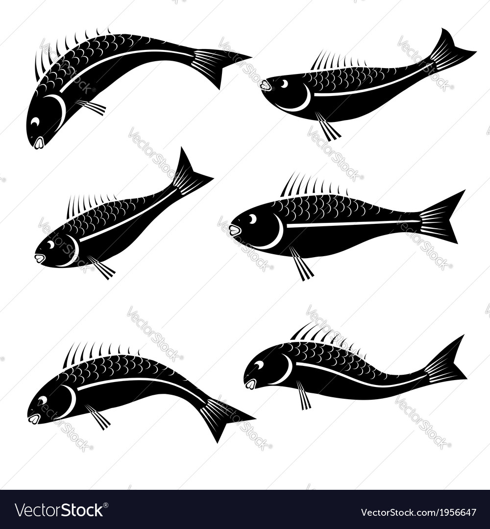 Fishes vector | Price: 1 Credit (USD $1)