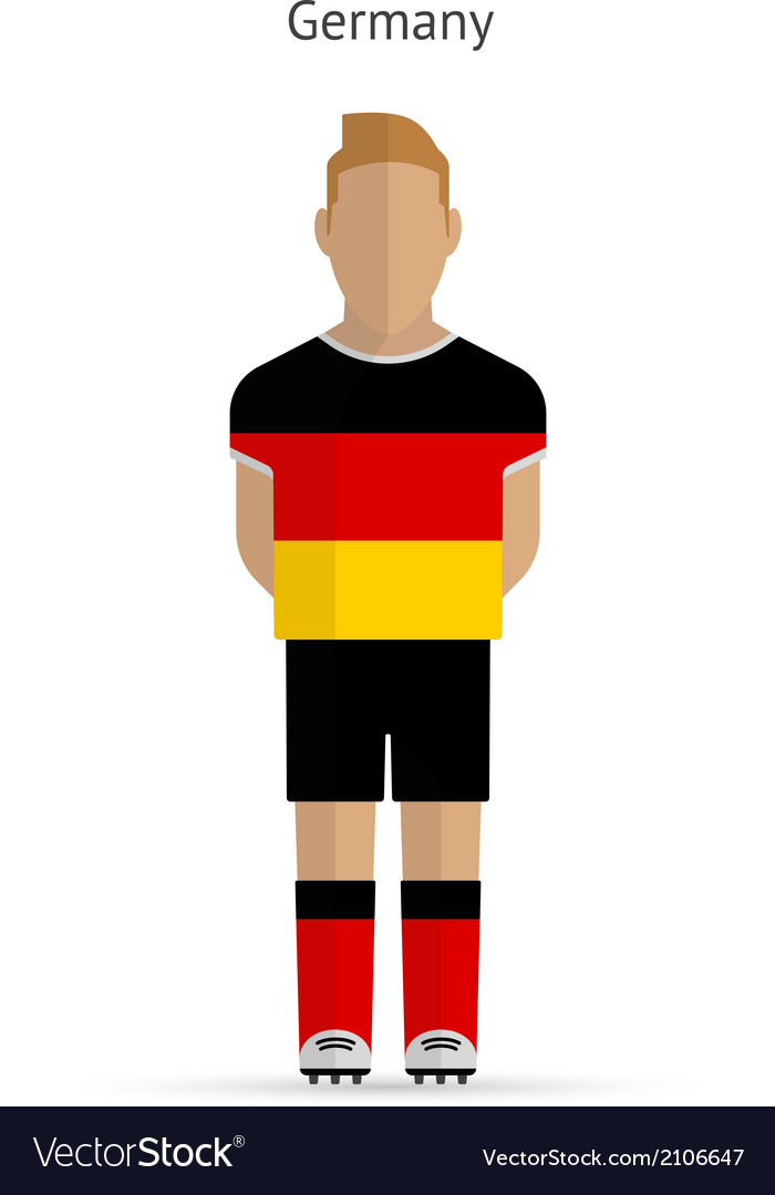Germany football player soccer uniform vector | Price: 1 Credit (USD $1)