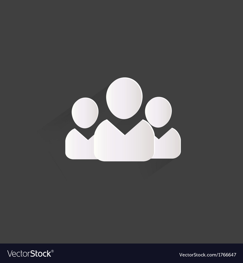Group of people web icon vector | Price: 1 Credit (USD $1)