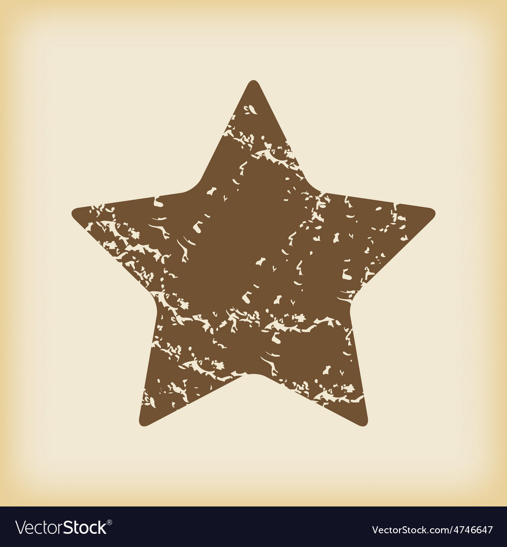 Grungy star icon vector | Price: 1 Credit (USD $1)