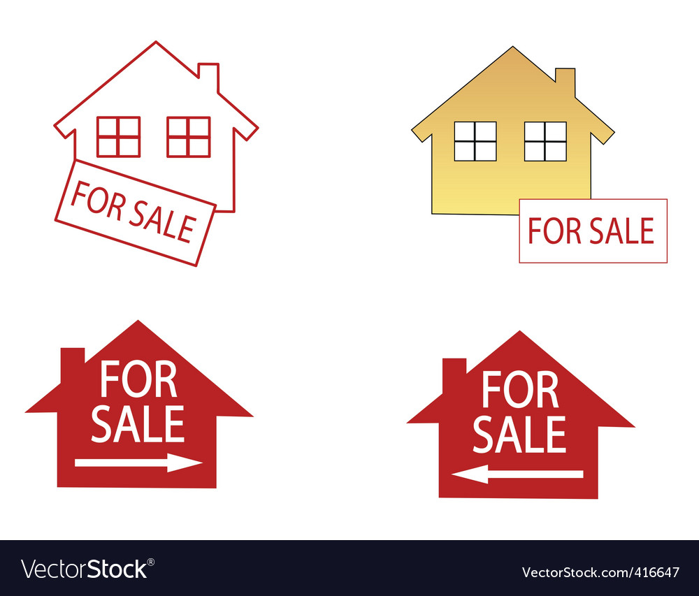 House for sale icons vector | Price: 1 Credit (USD $1)
