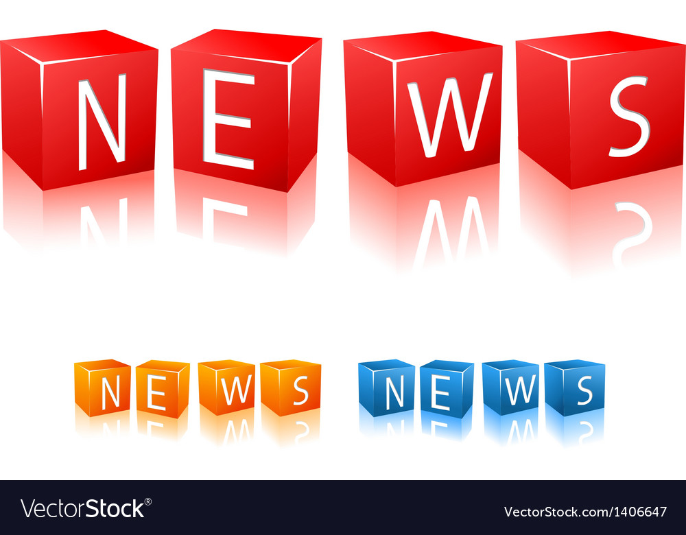 Letter cubes composed in word news vector | Price: 1 Credit (USD $1)