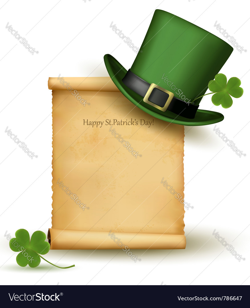 Saint patrick day card vector | Price: 1 Credit (USD $1)