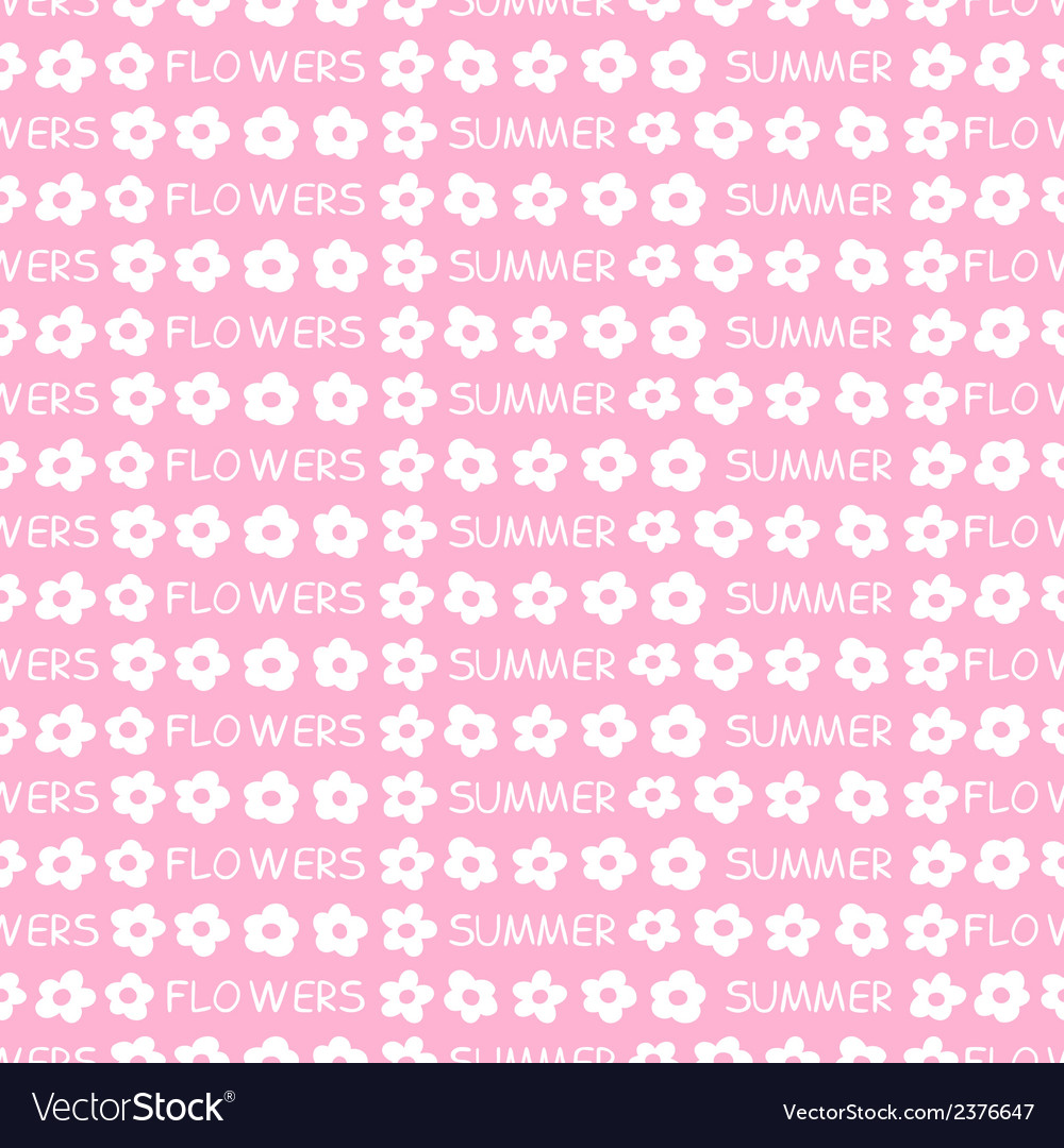 Seamless pattern of flowers vector | Price: 1 Credit (USD $1)