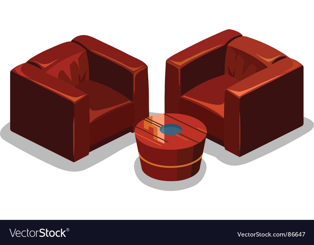 Sofa set vector | Price: 1 Credit (USD $1)