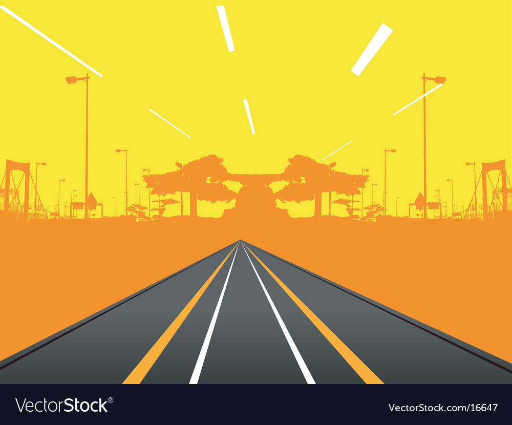 Urban road design vector | Price: 1 Credit (USD $1)