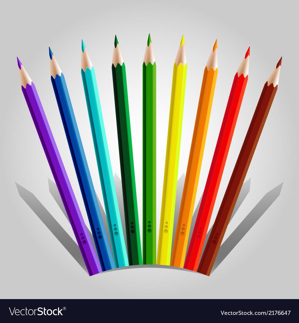 Varicolored pencil set vector | Price: 1 Credit (USD $1)