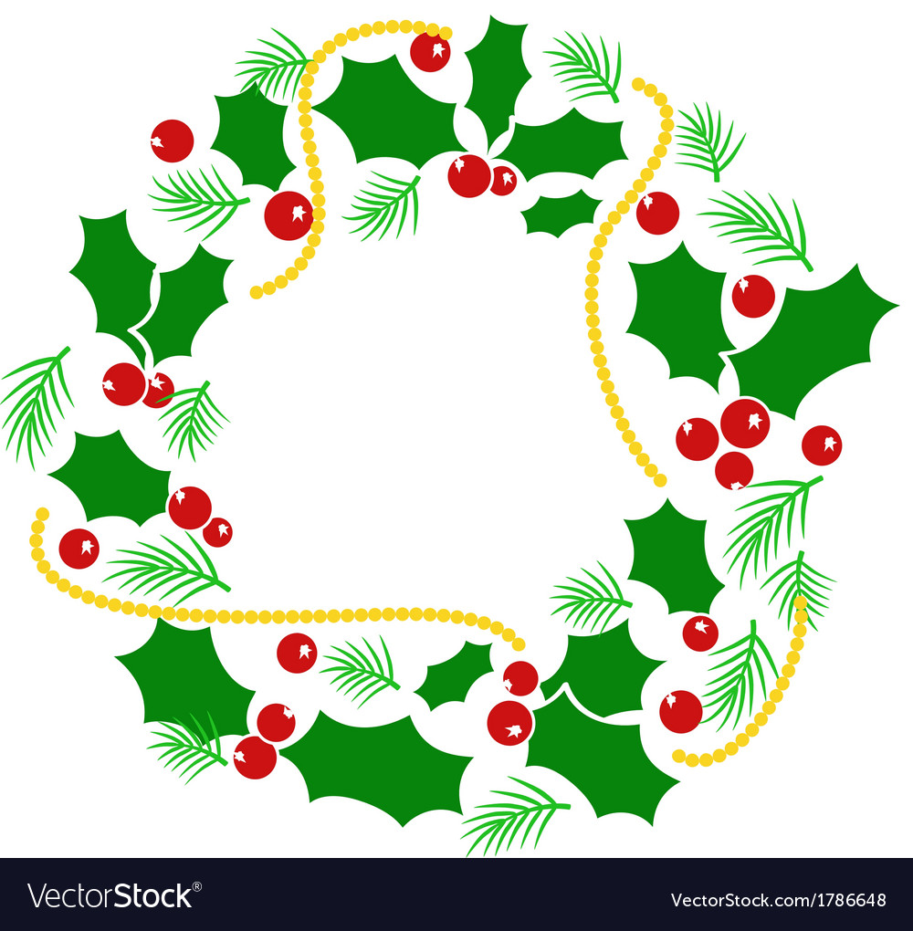 Abstract christmas wreath vector | Price: 1 Credit (USD $1)