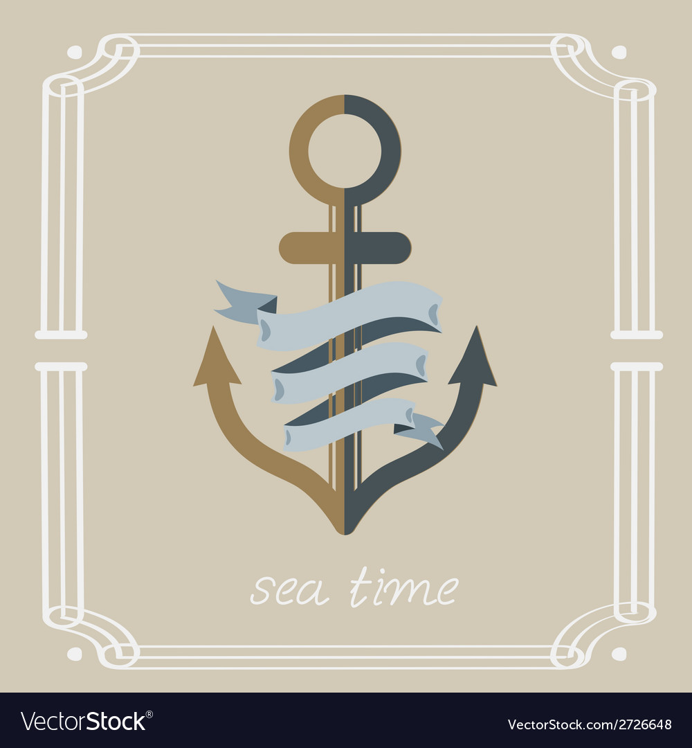 Anchor and ribbon vector | Price: 1 Credit (USD $1)