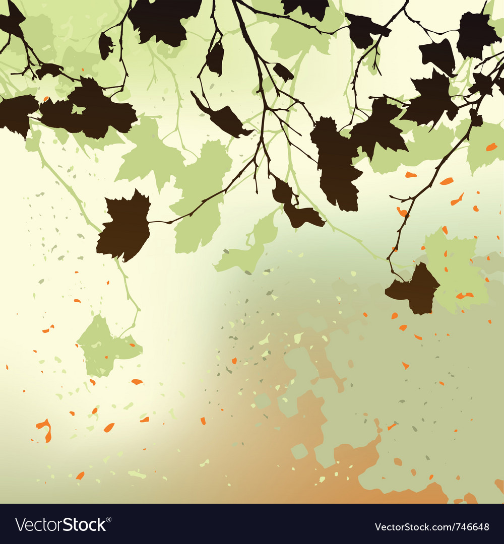 Autumn background ornament vector | Price: 1 Credit (USD $1)