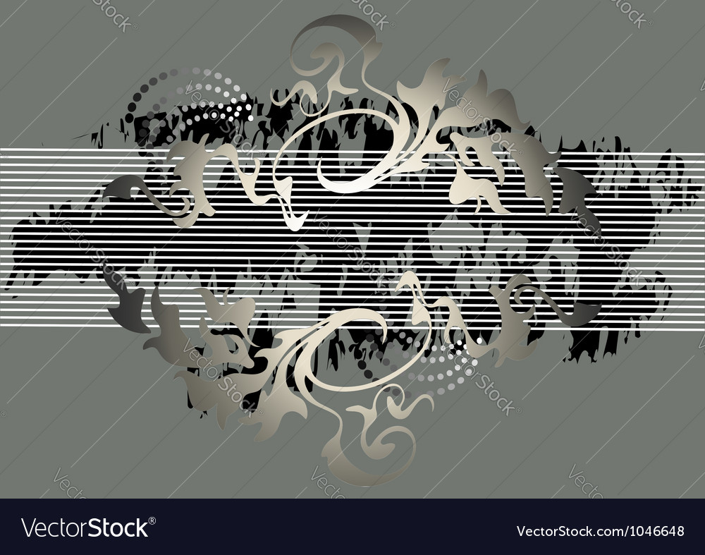 Banner steel gray color vector | Price: 1 Credit (USD $1)