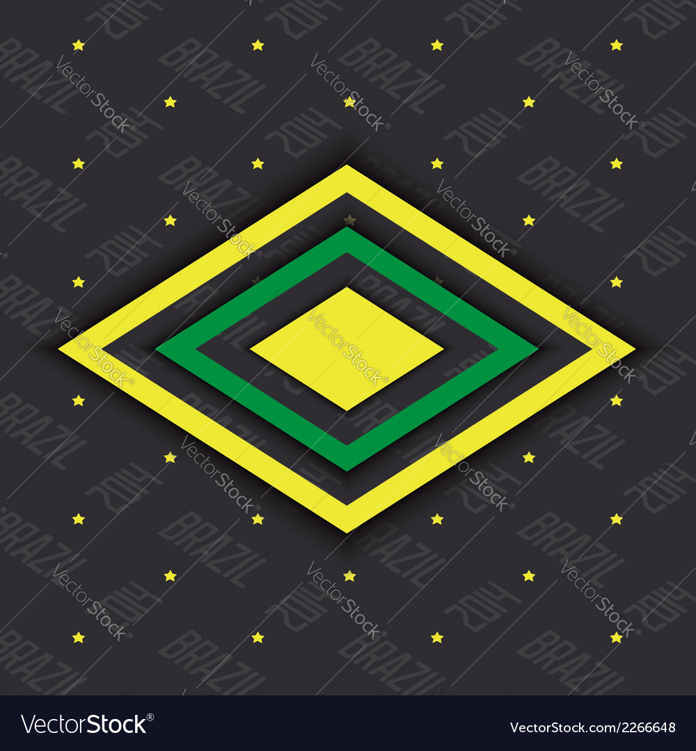 Brazil abstract background vector | Price: 1 Credit (USD $1)