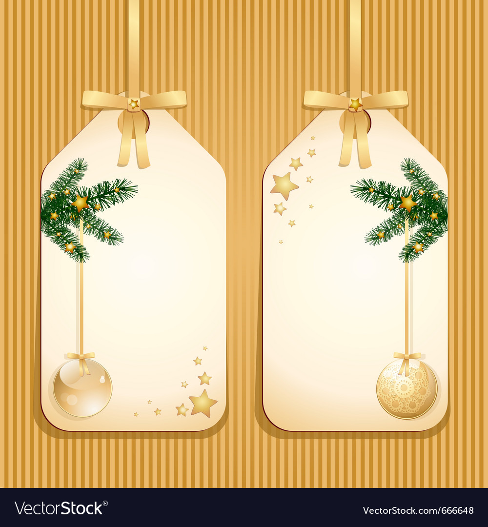 Christmas classic labels vector | Price: 1 Credit (USD $1)