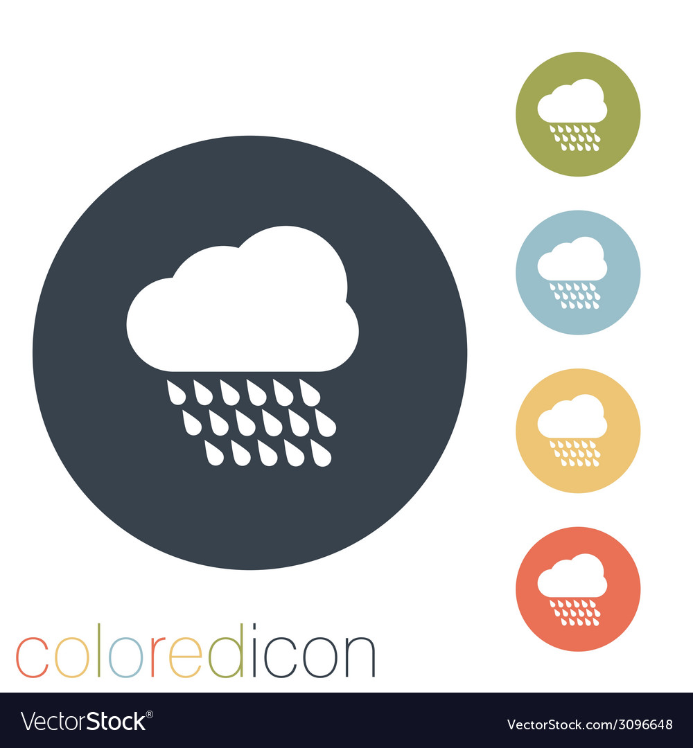 Cloud rain the weather icon vector | Price: 1 Credit (USD $1)