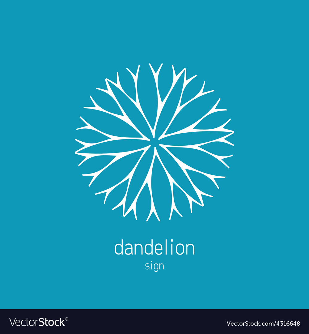Dandelion logo template cosmetics natural symbol vector | Price: 1 Credit (USD $1)