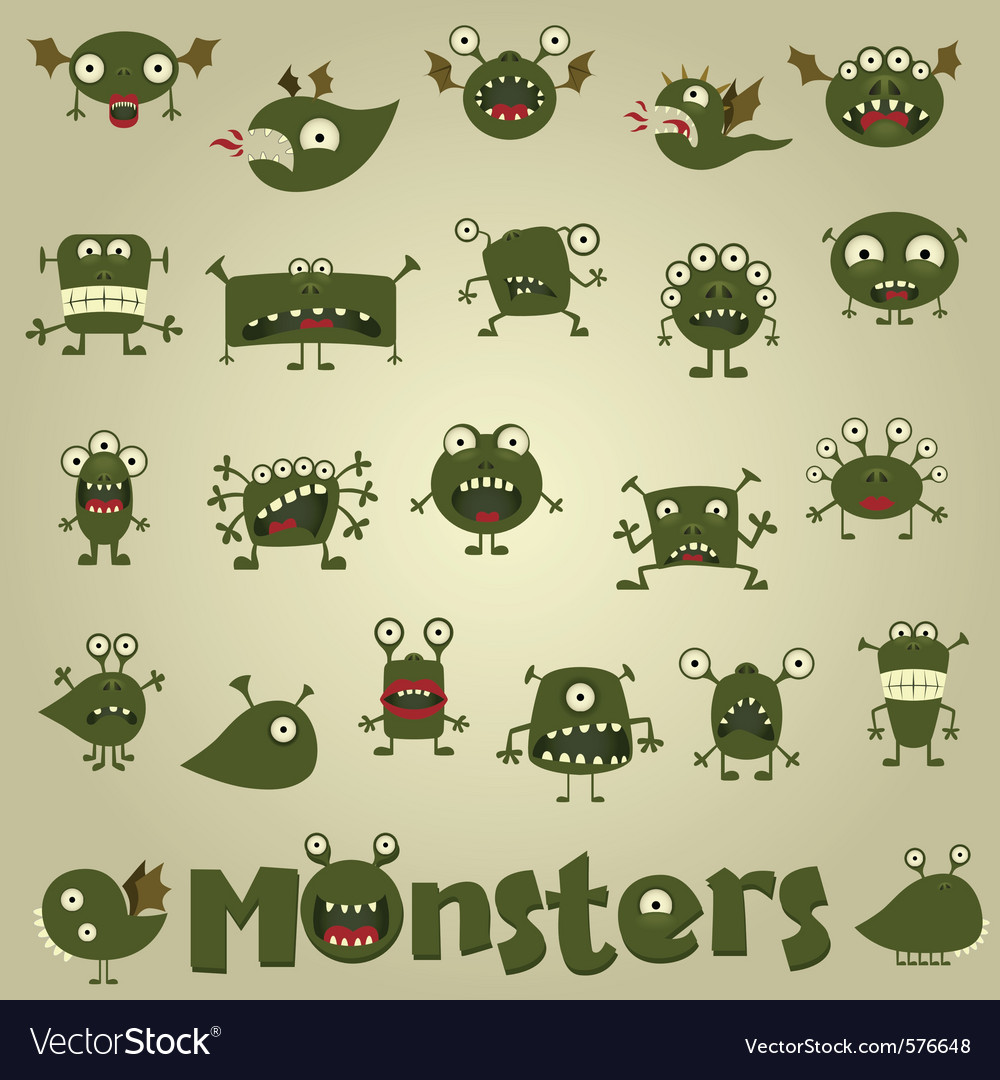 Doodle monster vector   Price: 1 Credit (USD $1)