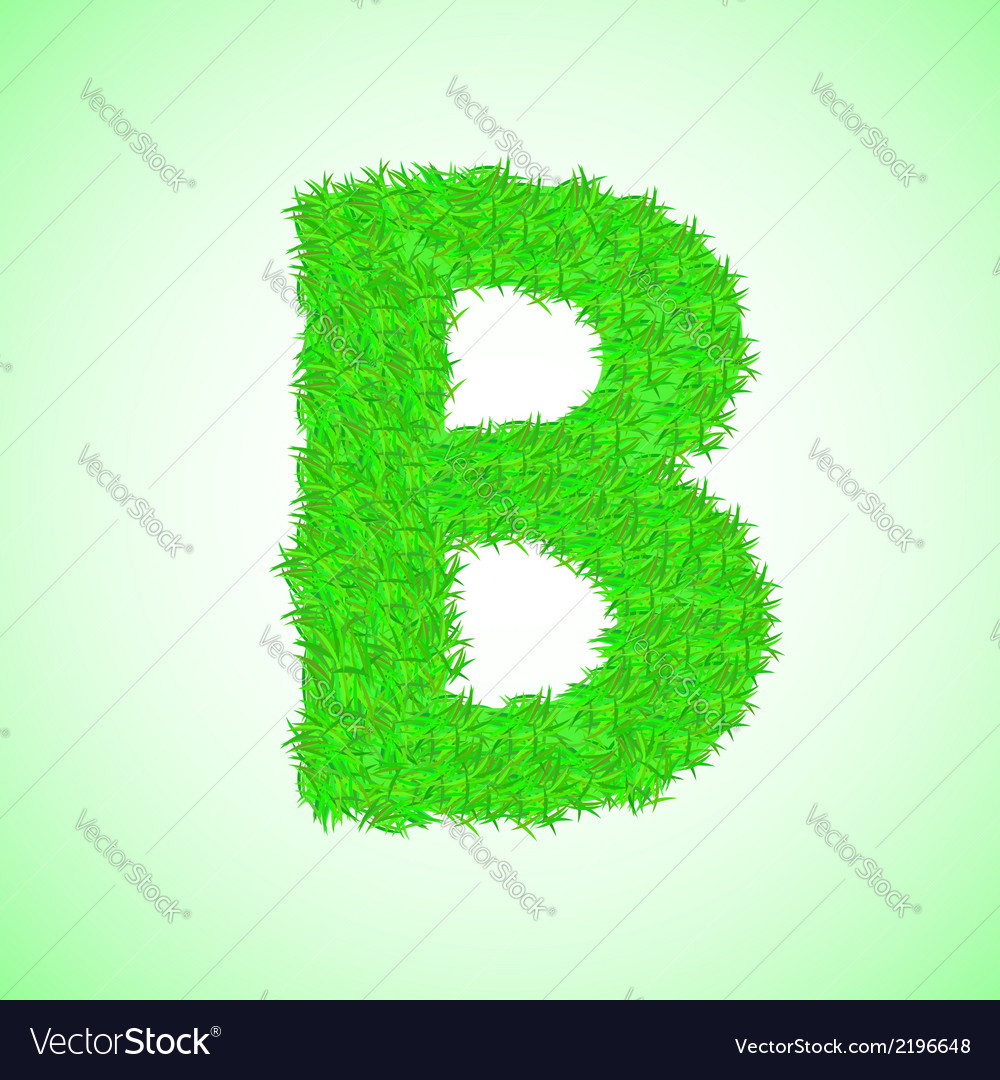 Grass letter b vector | Price: 1 Credit (USD $1)