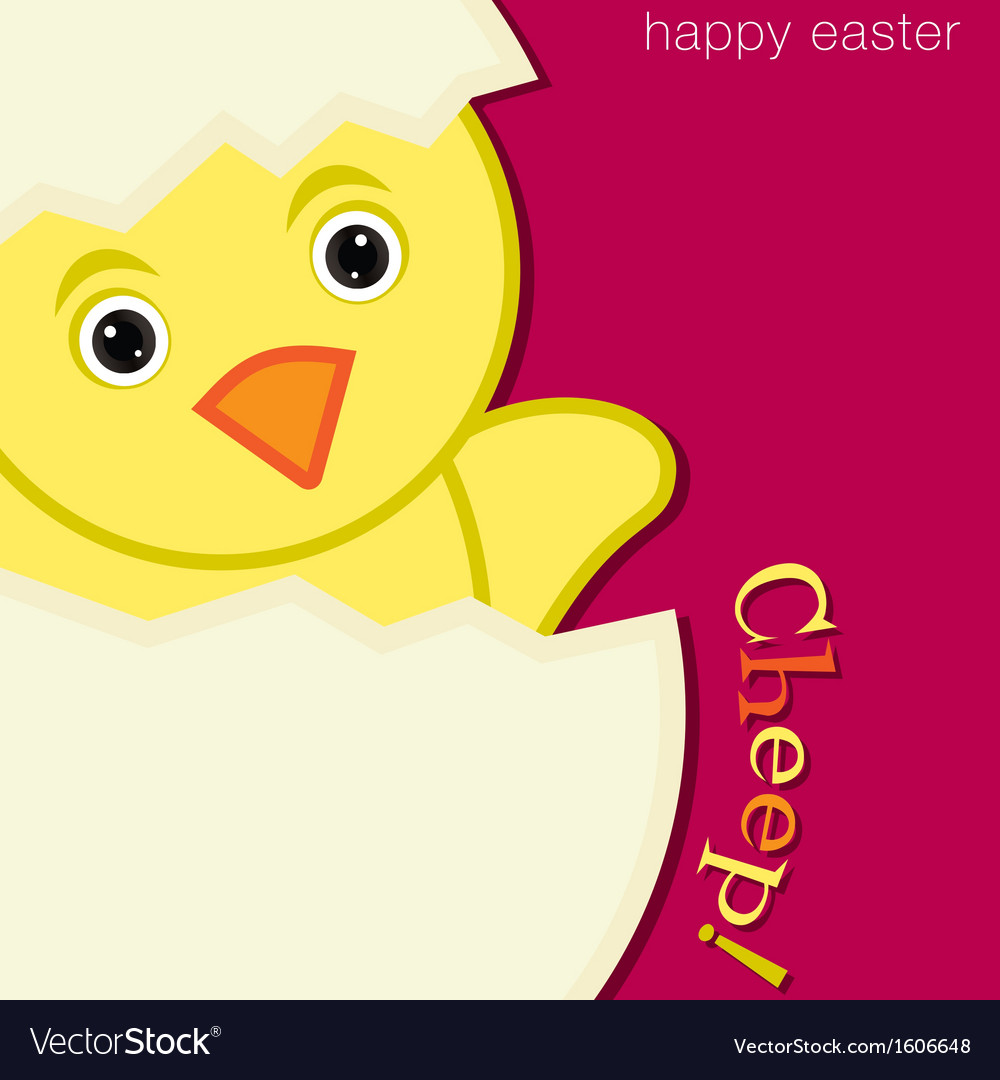 Happy easter bird vector | Price: 1 Credit (USD $1)