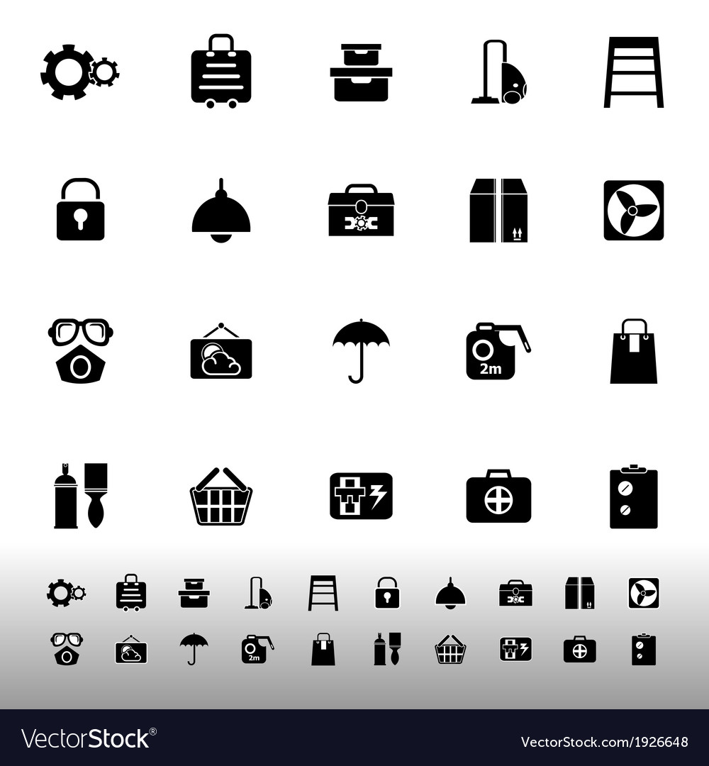 Home storage icons on white background vector | Price: 1 Credit (USD $1)