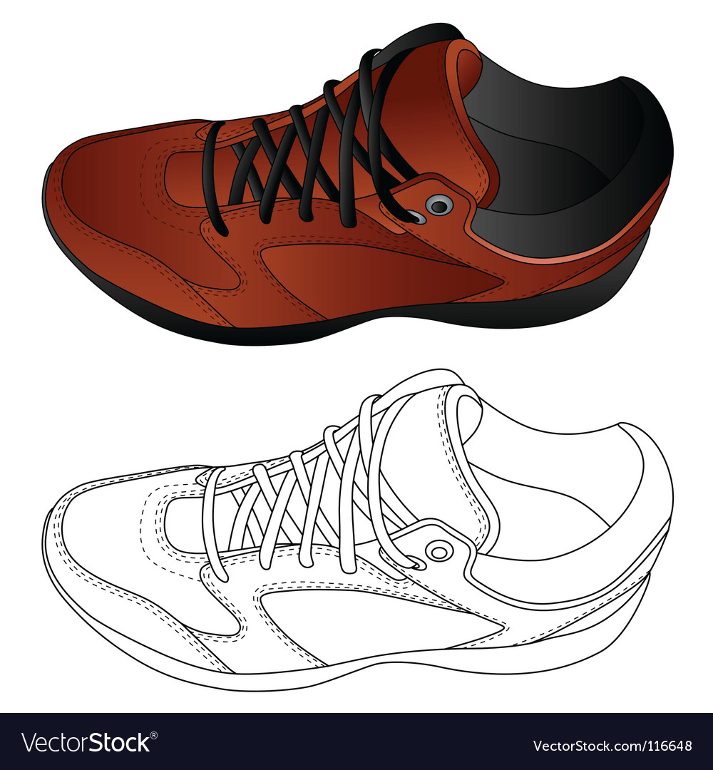 Image of sport shoes vector | Price: 1 Credit (USD $1)