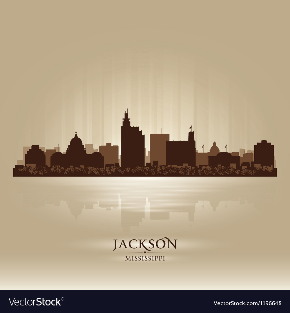 Jackson mississipi skyline city silhouette vector | Price: 1 Credit (USD $1)