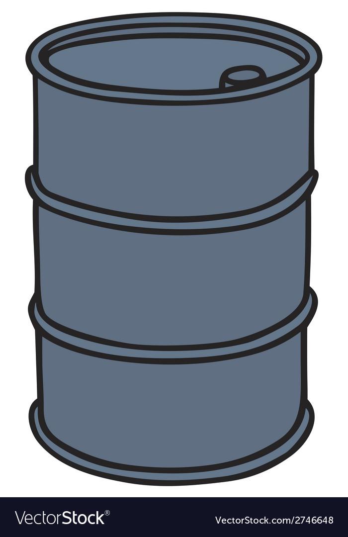 Metal barrel vector | Price: 1 Credit (USD $1)