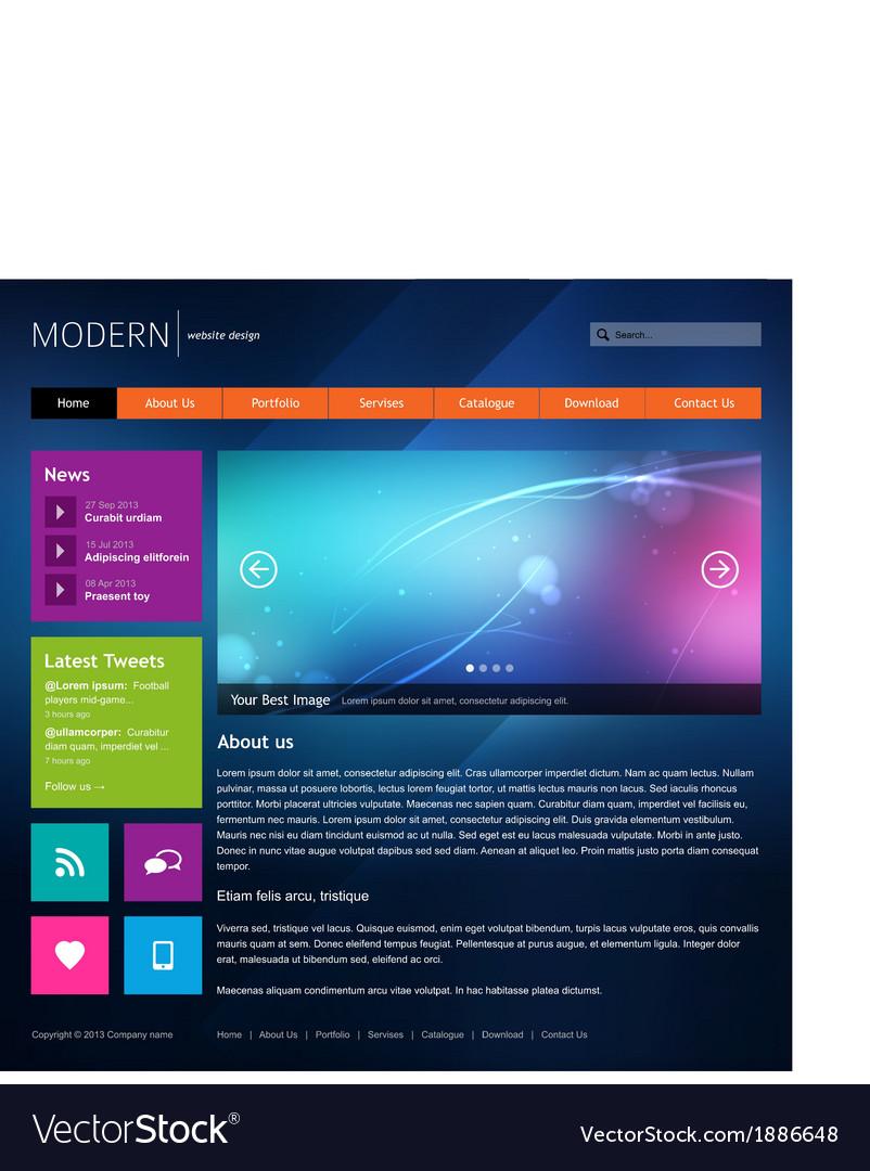 Modern website design template vector | Price: 1 Credit (USD $1)