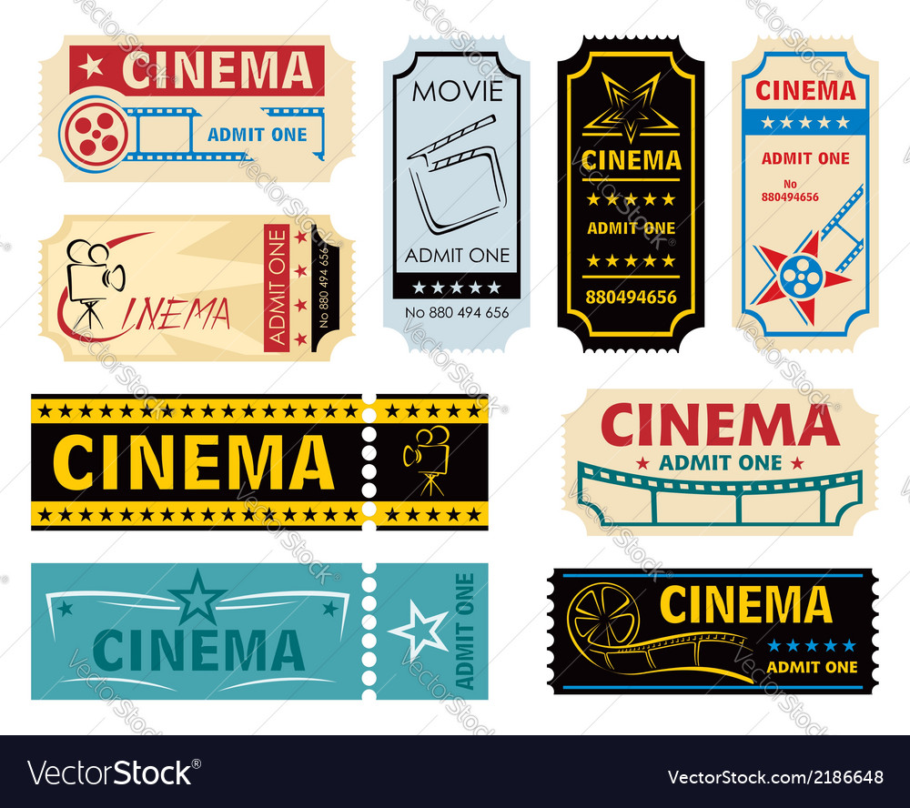 Movie admission vector | Price: 1 Credit (USD $1)