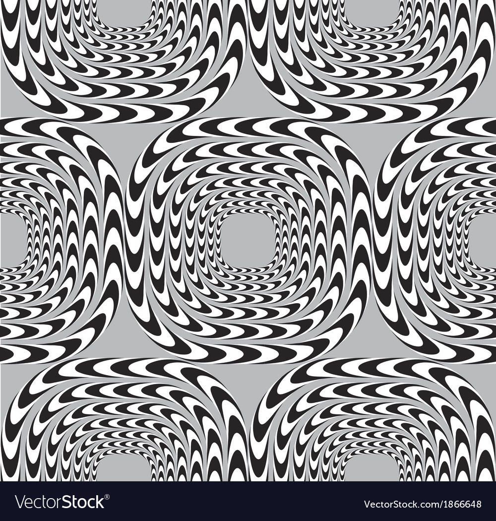 Optical seamless pattern background squares moves vector | Price: 1 Credit (USD $1)