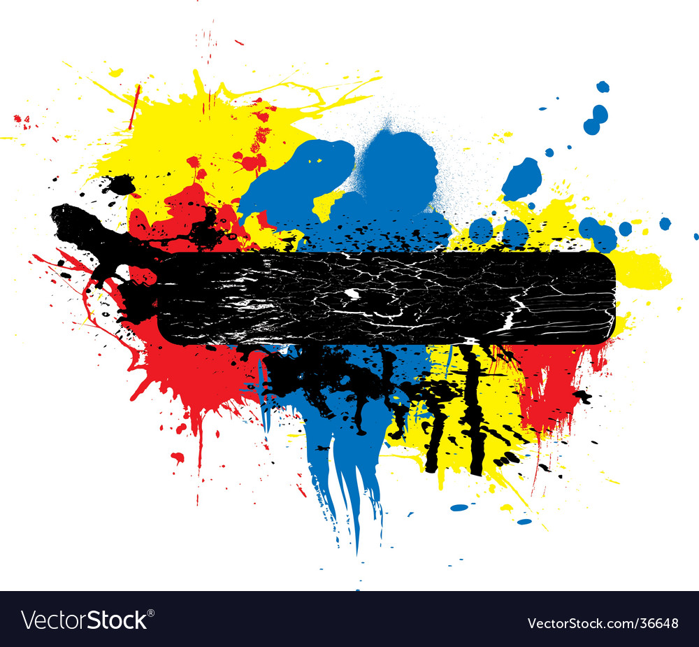 Paint splat place holder vector | Price: 1 Credit (USD $1)