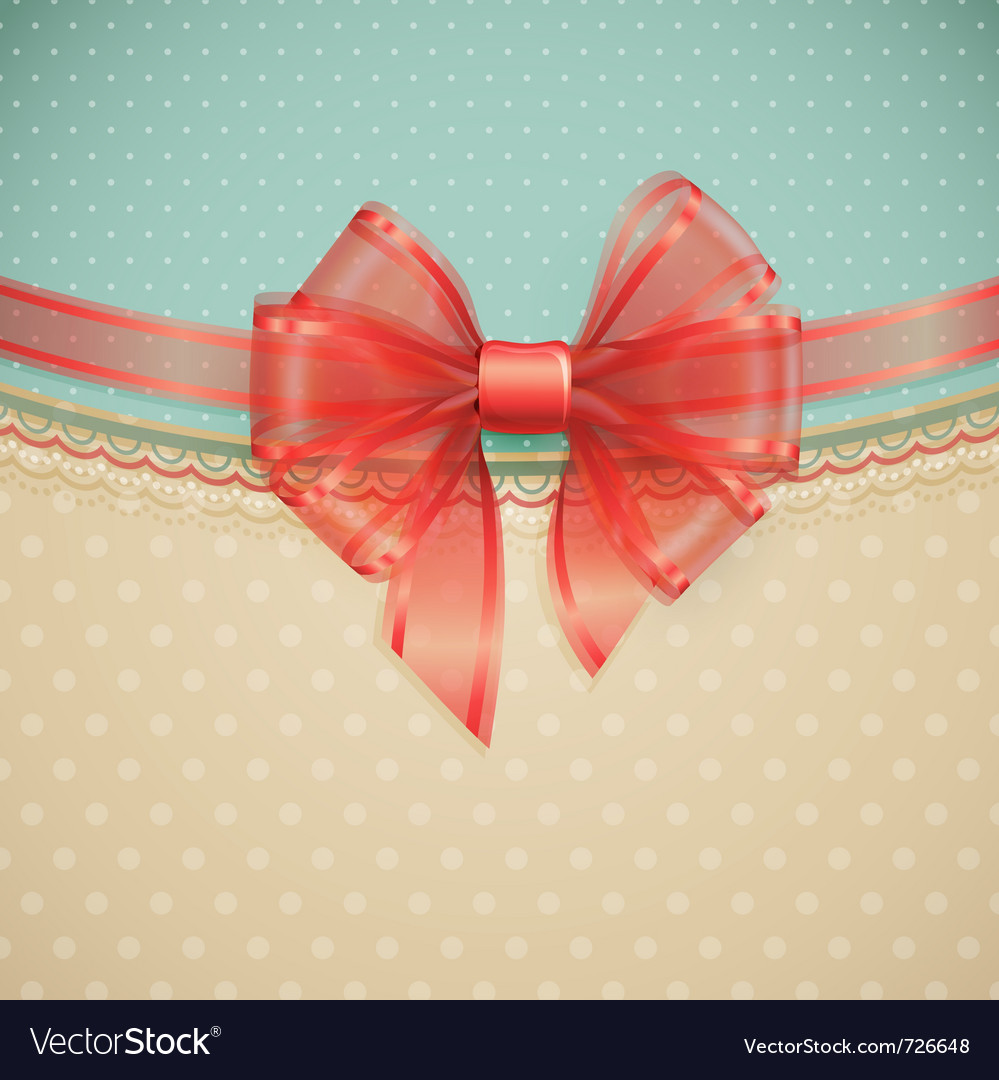 Red transparent bow vector | Price: 3 Credit (USD $3)