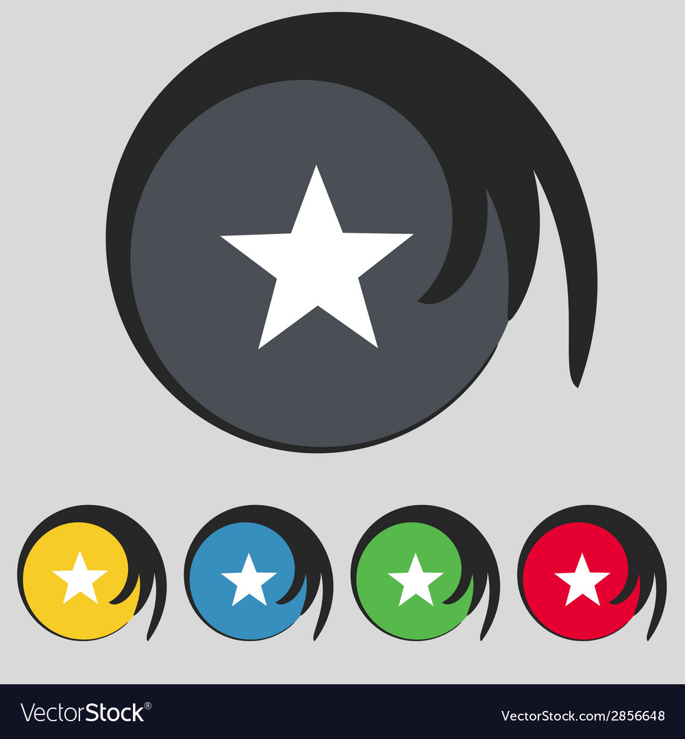 Star sign icon favorite button navigation symbol vector | Price: 1 Credit (USD $1)
