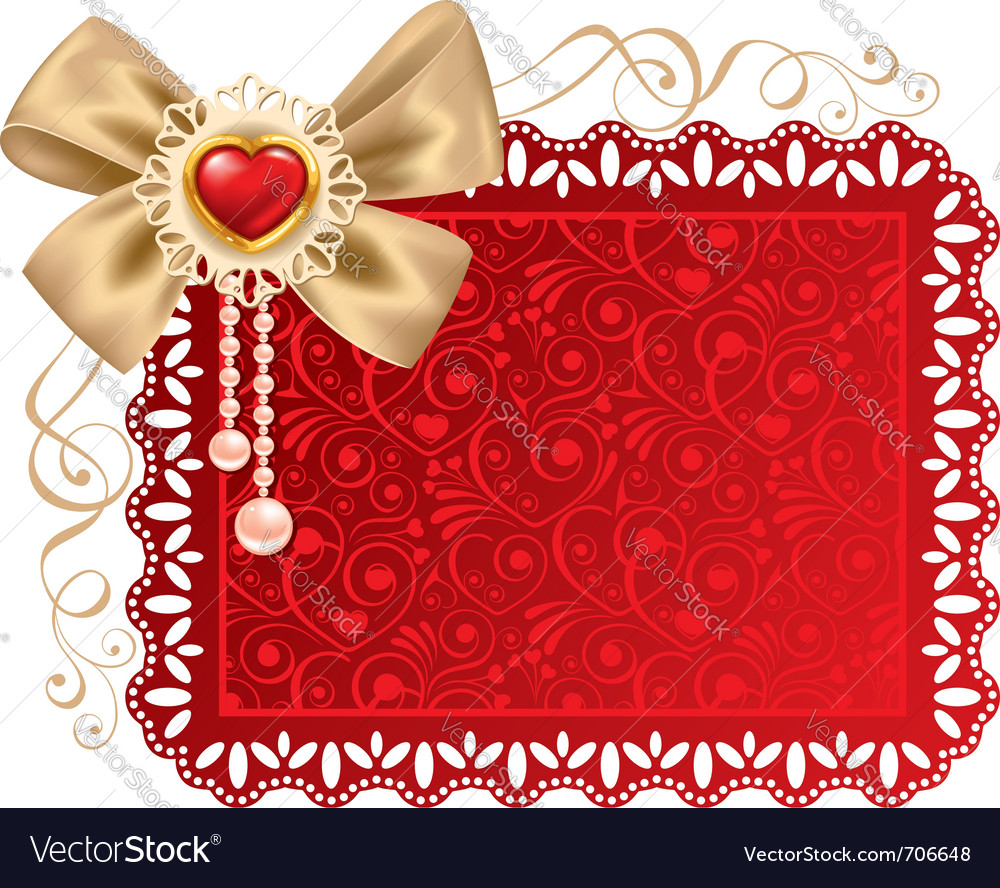 Valentines day beautiful background with ornaments vector | Price: 1 Credit (USD $1)