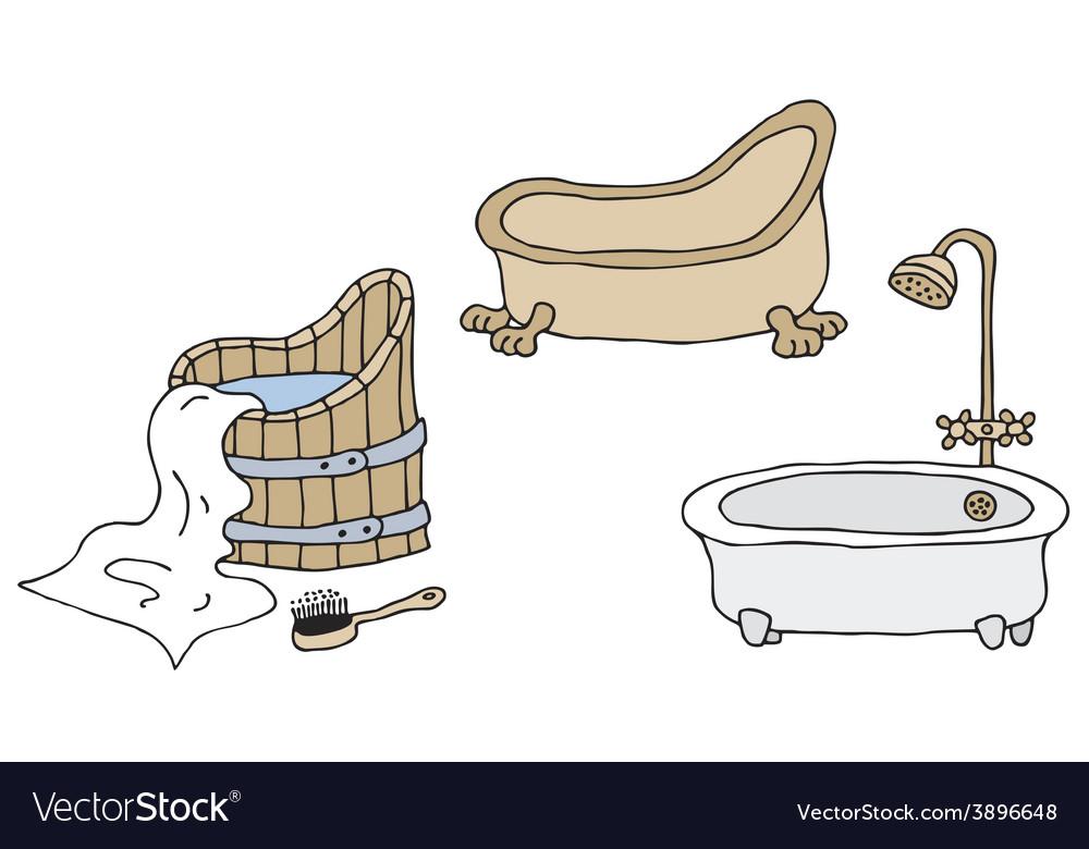 Vintage bathtubs vector | Price: 1 Credit (USD $1)