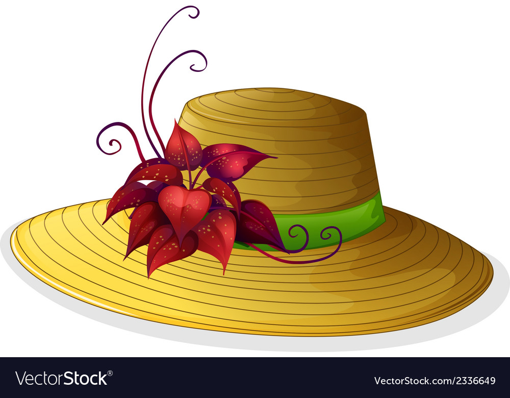 A fashionable hat with a plant vector | Price: 1 Credit (USD $1)