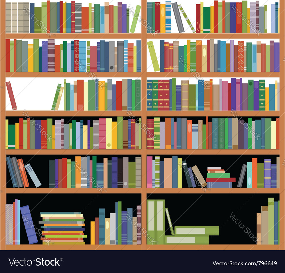 Bookshelf vector | Price: 1 Credit (USD $1)