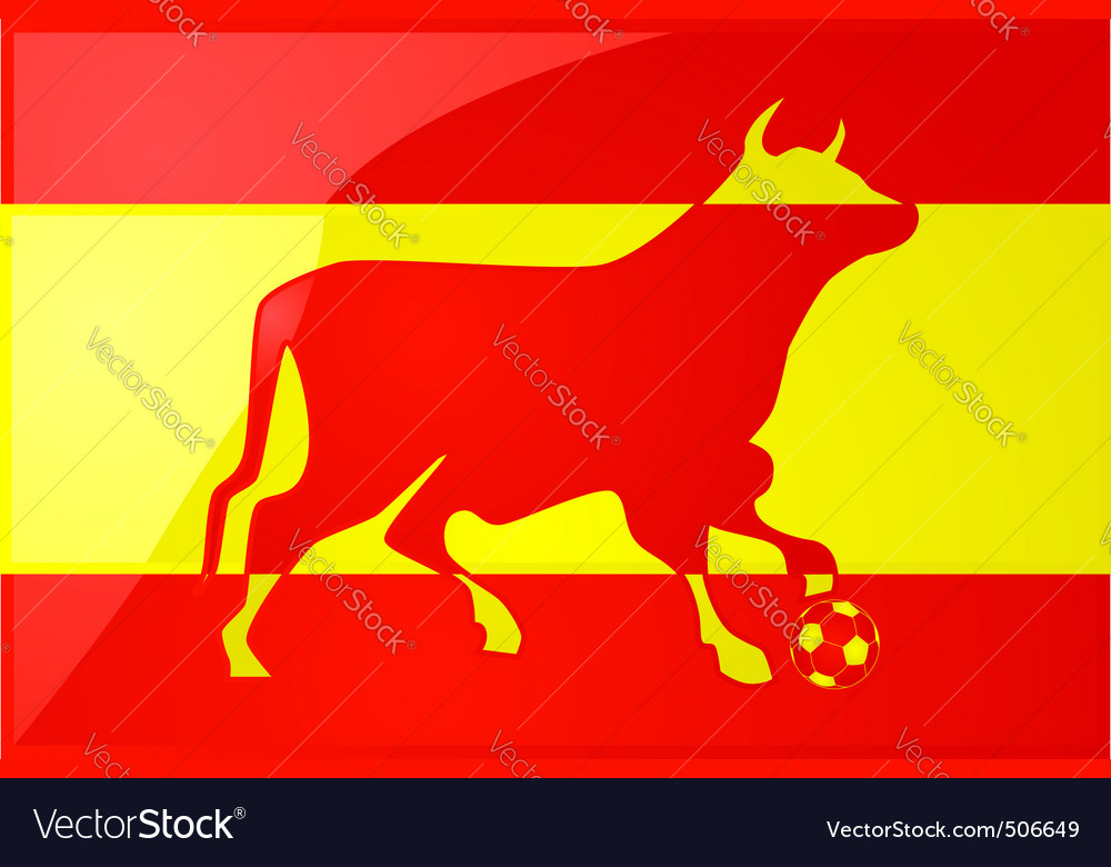 Bull spanish soccer 2 vector | Price: 1 Credit (USD $1)