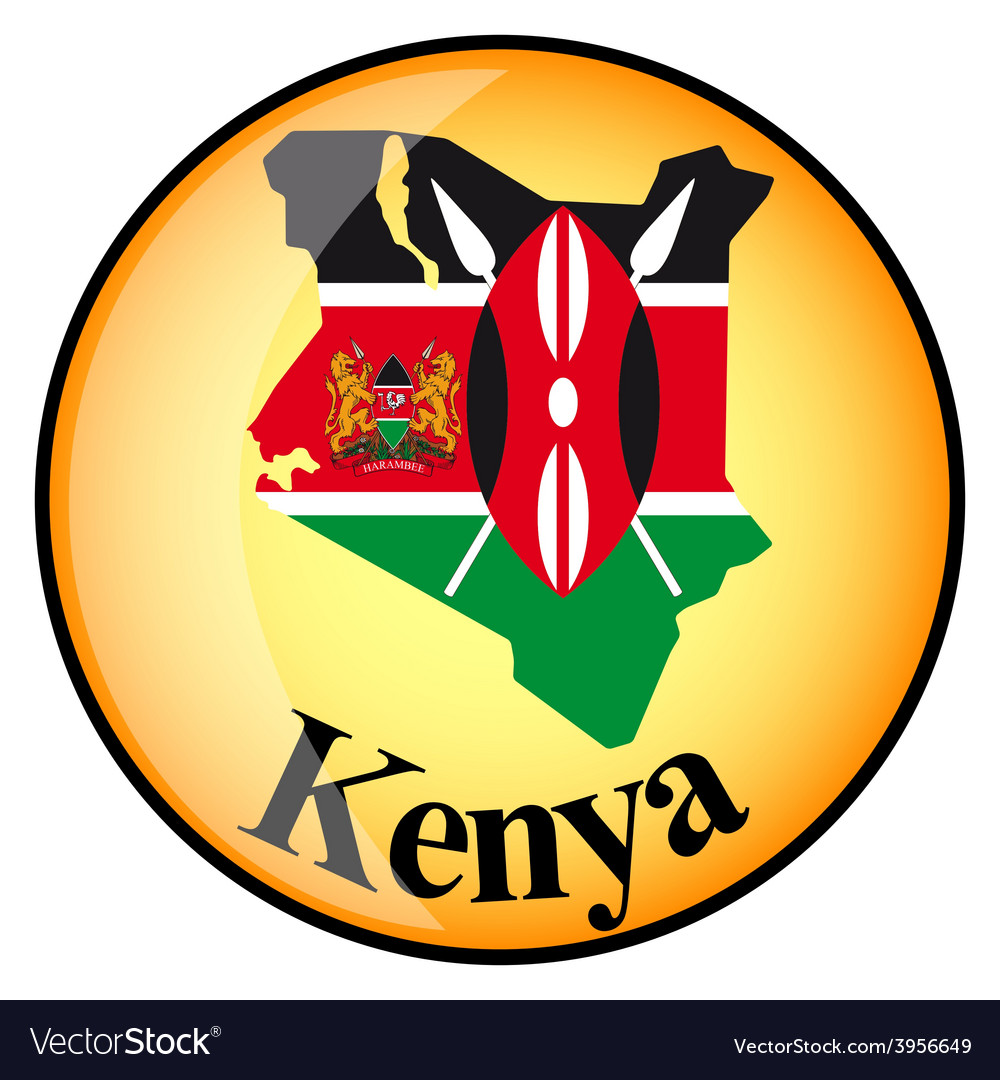 Button kenya vector | Price: 1 Credit (USD $1)