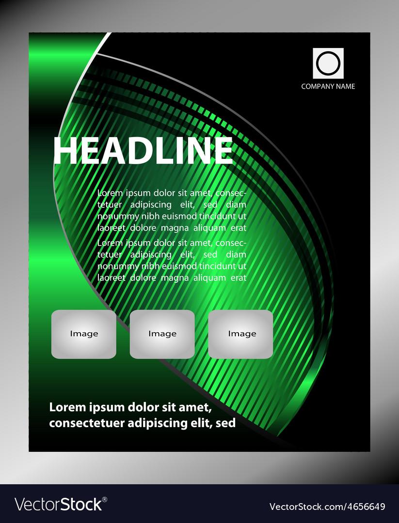 Flyer leaflet booklet layout editable design tem vector | Price: 1 Credit (USD $1)