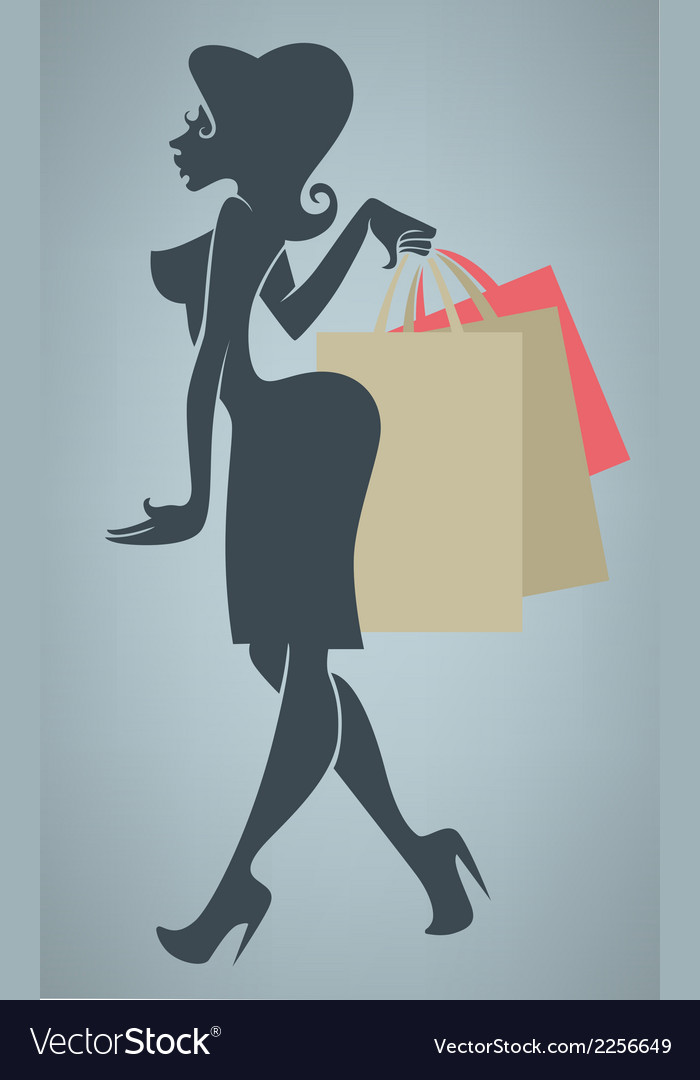 Funny cartoon shopping vector | Price: 1 Credit (USD $1)