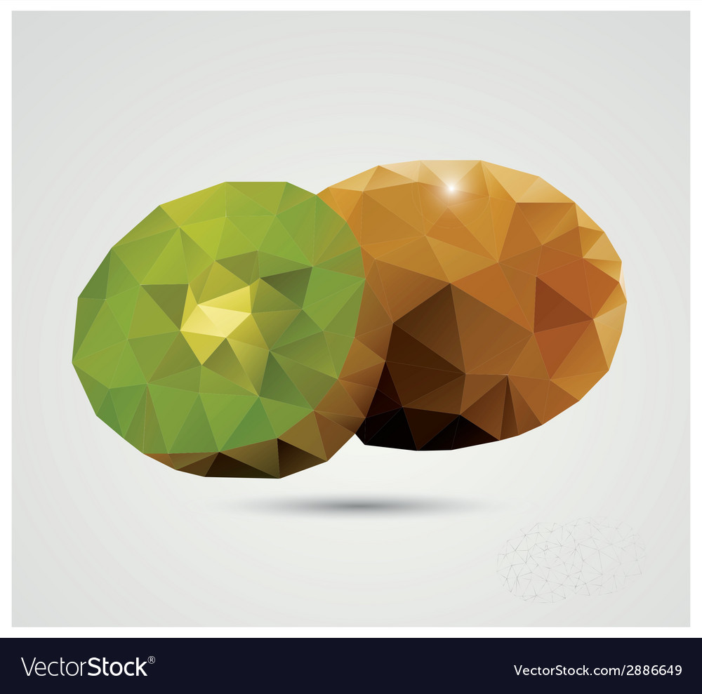 Geometric polygonal fruit triangles kiwi vector | Price: 1 Credit (USD $1)
