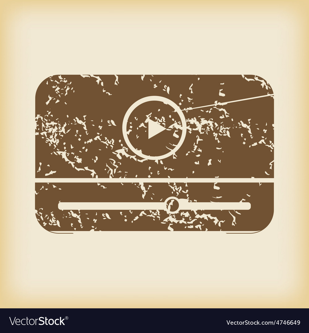 Grungy mediaplayer icon vector   Price: 1 Credit (USD $1)
