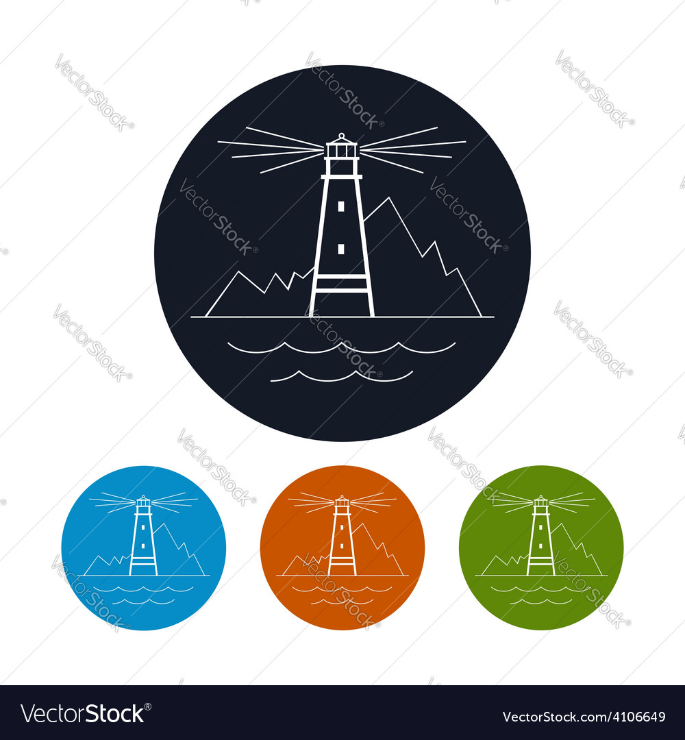 Icon lighthouse vector | Price: 1 Credit (USD $1)