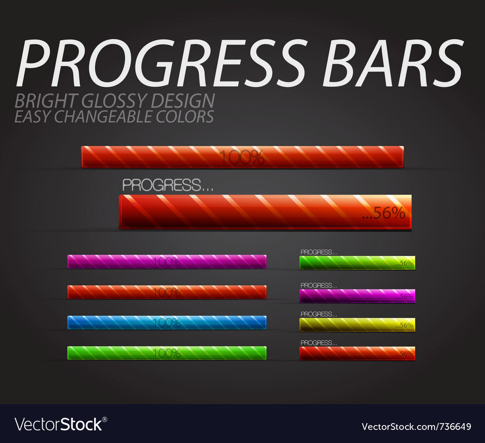 Progress bars vector | Price: 1 Credit (USD $1)