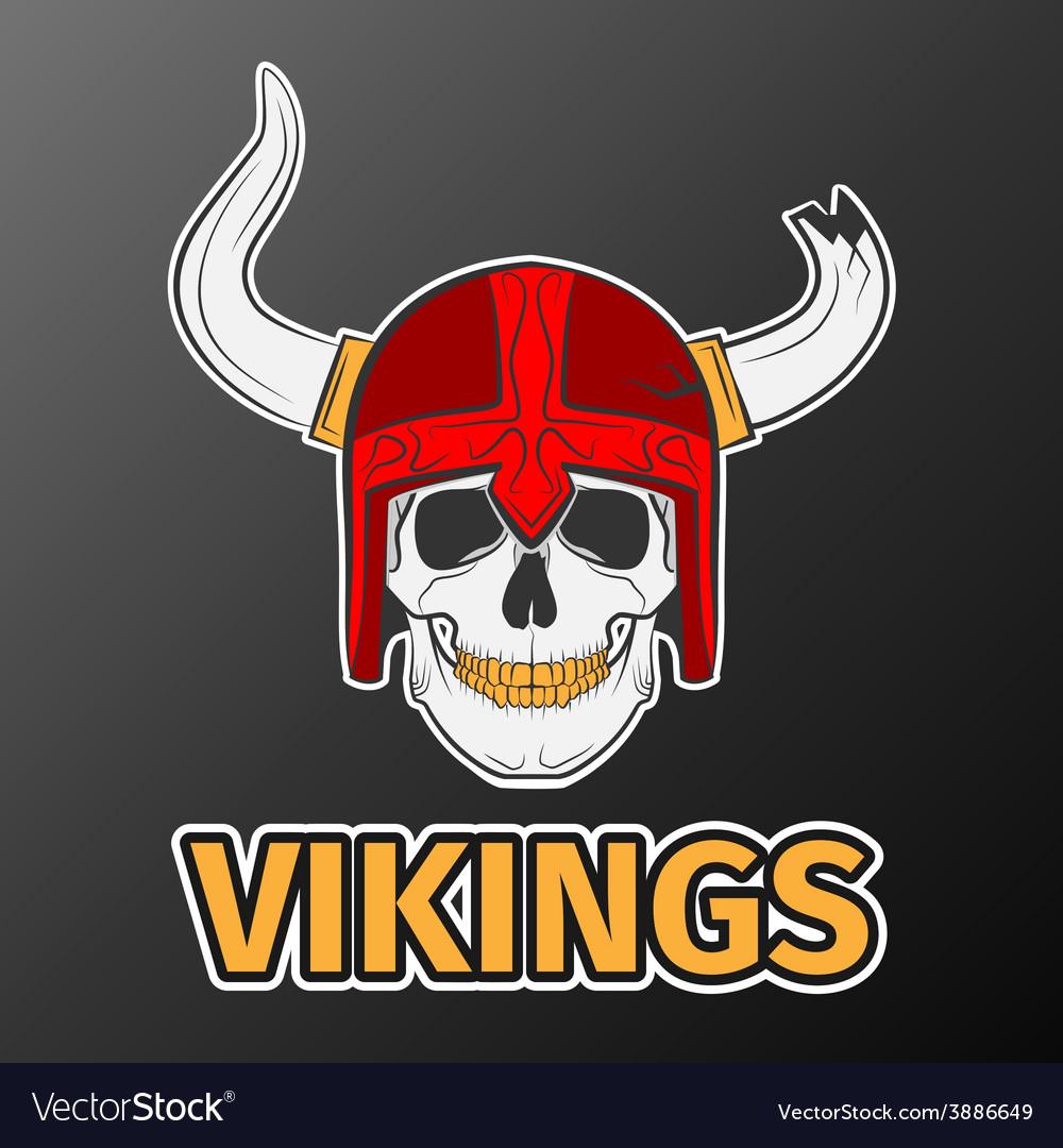 Skull viking vector | Price: 1 Credit (USD $1)