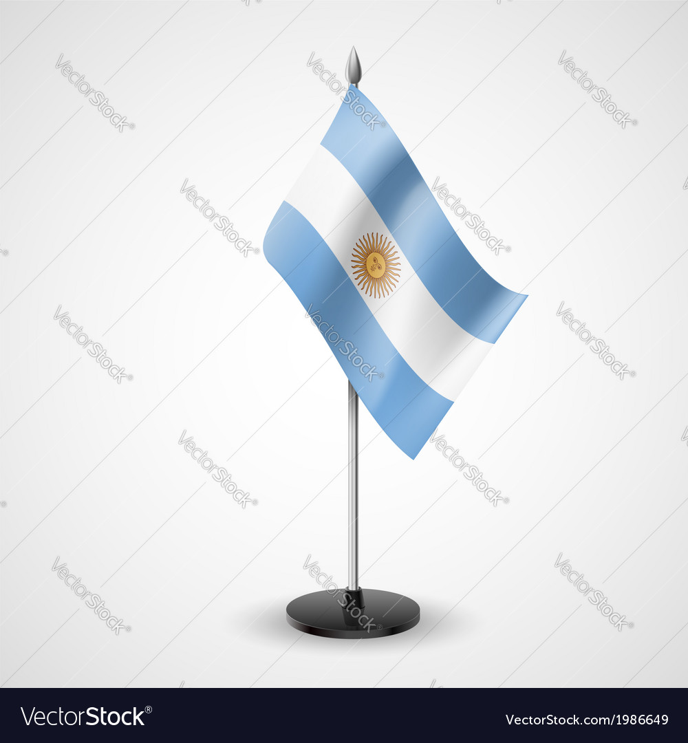 Table flag of argentina vector | Price: 1 Credit (USD $1)