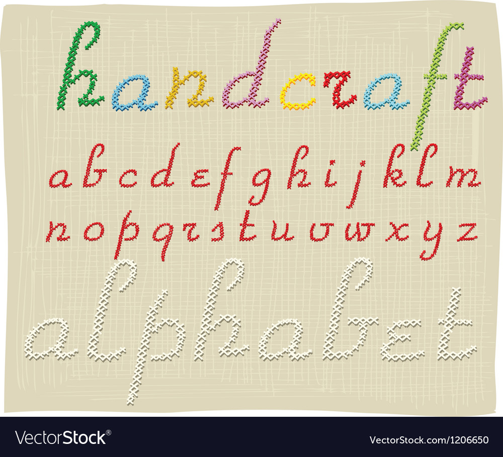 Handcraft alphabet - small letters vector | Price: 1 Credit (USD $1)